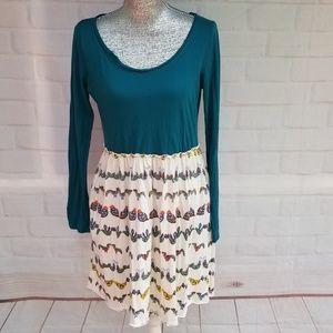 Anthropologie Bird Watch Dress by Saturday Sunday